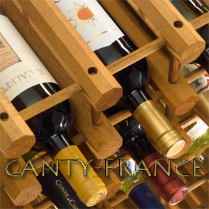 CANTY FRANCE   CANTY Wine Racks Storage Wooden Modulair System For Storage  Of Wine Or Champagne Bottles.